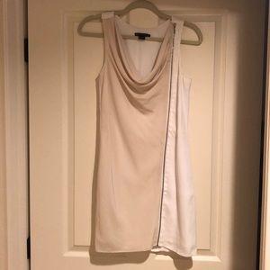 Armani exchange white/ivory zippered summer dress